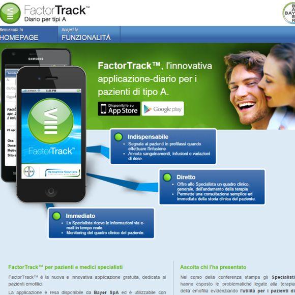 FactorTrack: l'agenda delle infusioni in versione App