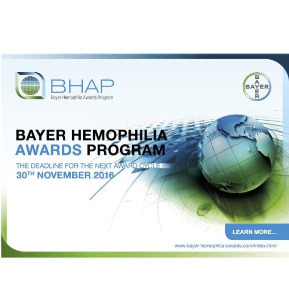 Al via il Bayer Hemophilia Awards Program 2017