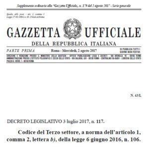 GU | Codice del Terzo settore