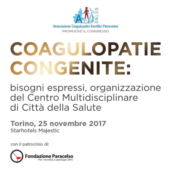 Coagulopatie Congenite. Torino, 20.11.2017