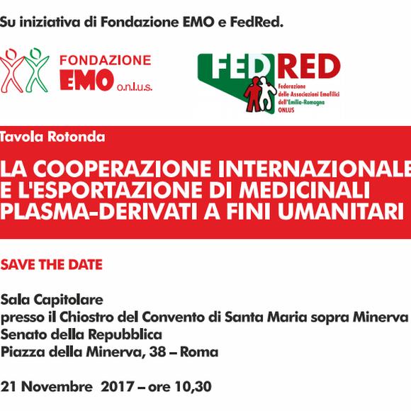 La cooperazione internazionale e l'esportazione di medicinali plasma-derivati