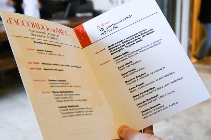 XIV Giornata Mondiale dell'Emofilia: il programma