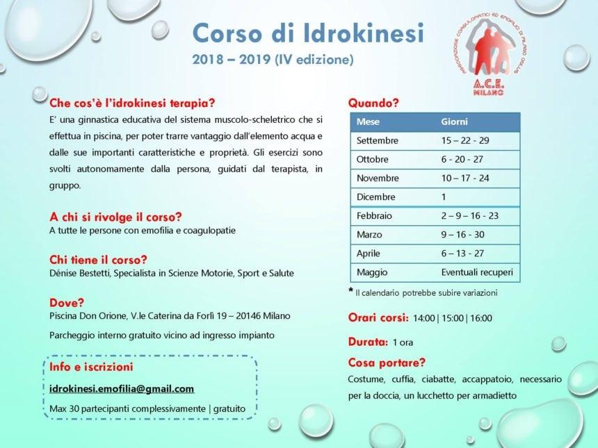 Corso Idrokinesi – ACE Milano