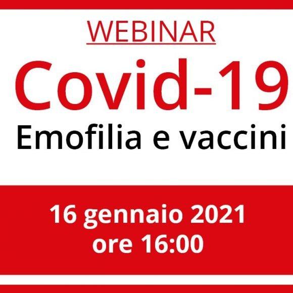 Covid-19: emofilia e vaccini. Registrati al webinar